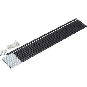 CAMPZ Glass Fibre Pole Set 9mm x 4,55m black